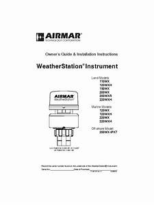 220wx Owner U0026 39 S Guide And Installation Instructions