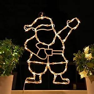 Weihnachtsbeleuchtung Innen Fenster : fenster silhouette weihnachten 50cm weihnachtsdeko ~ A.2002-acura-tl-radio.info Haus und Dekorationen