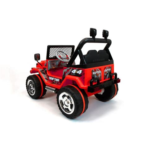 kids red jeep xtreme 12v ride on off road jeep in red xtreme toys