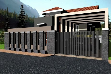 model rumah minimalis pakai batu alam