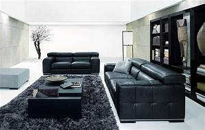 amazing new nicolas living room design with black sofa With black furniture living room ideas