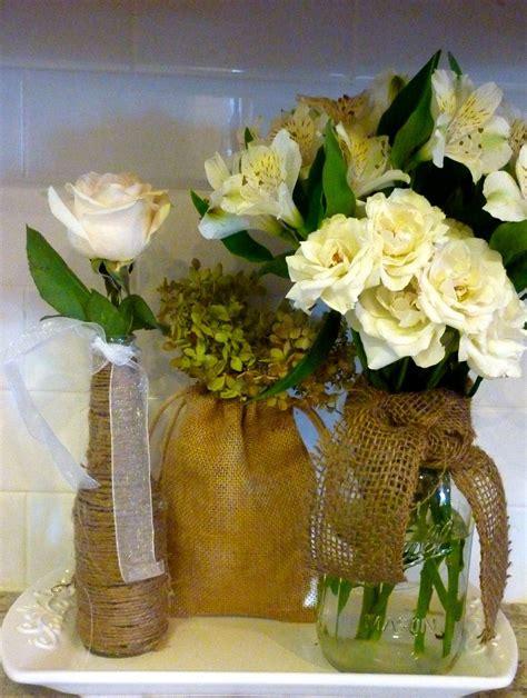 Decorating Mason Jars With Burlap Twine Burlap Mason
