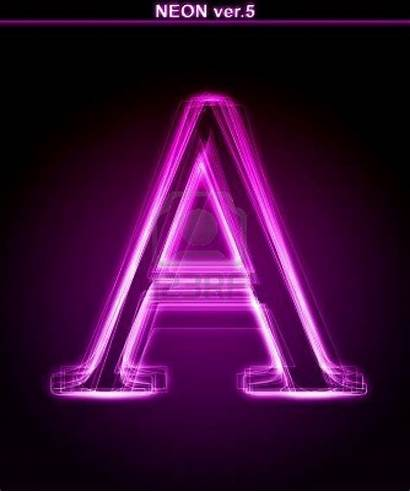 Letter Neon Glowing Background Font Typography Google