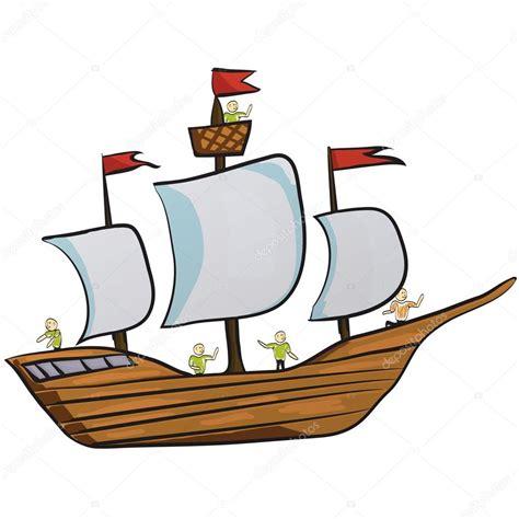 Imagenes De Barcos Vector by Barco De Vela Icono De Dibujos Animados De La Nave