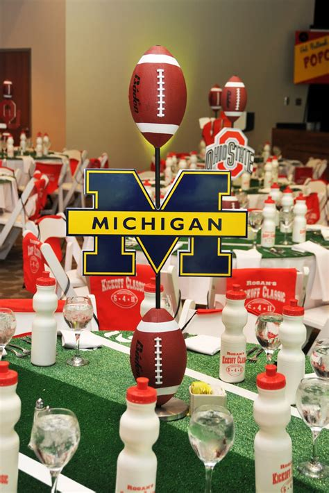 Football Decorations - setting the mood college kick classic celebration
