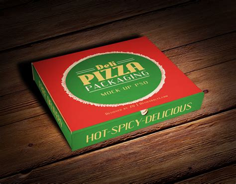 The free psd mockup uses the smart object feature, meaning that your editing process can be easily done. Free Pizza Box Packaging Mock-up PSD File