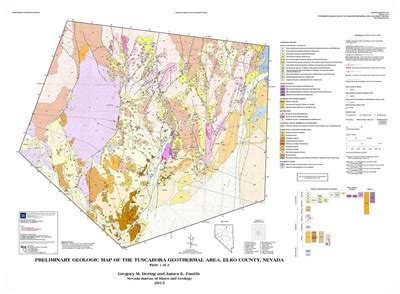 preliminary geologic map of the tuscarora geothermal area elko county nevada two plates and text