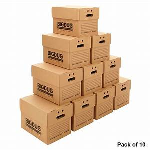 10 x document boxes cardboard heavy duty archive storage With document storage boxes cardboard