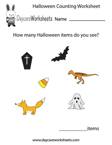 preschool halloween counting worksheet