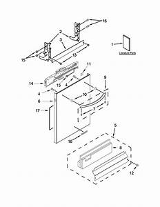 Kitchenaid Model Kdte104dss0 Dishwasher Genuine Parts
