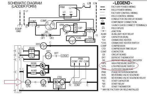 Side Split Air Conditioner Wiring Diagram Field by Refrigeration Pressure Switches Wiring Diagram Ladder