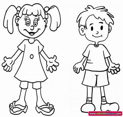 Coloring Human Pages Preschool Bodies Crafts Colouring