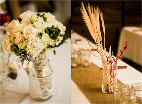 Barn Wedding Centerpieces : South Carolina Barn Wedding