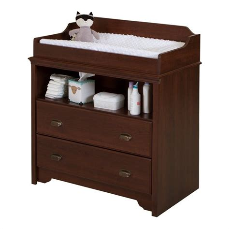 south shore changing table south shore fundy tide changing table in royal cherry