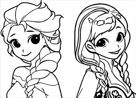 elsa anna cartoon coloring page  diy  crafts