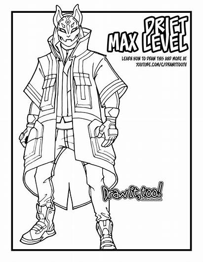 Fortnite Coloring Drift Pages Max Sheets Draw