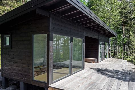 Small Modular Scandinavian Style Home by Modern Scandinavian Log Cabin Set On A Beautiful Baltic