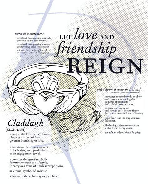claddagh ring represent friendship represents crown represents loyalty my