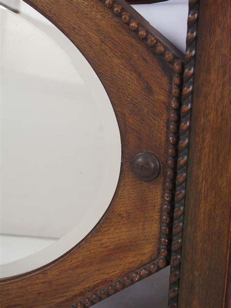 vintage oak mahogany framed wall mirrors