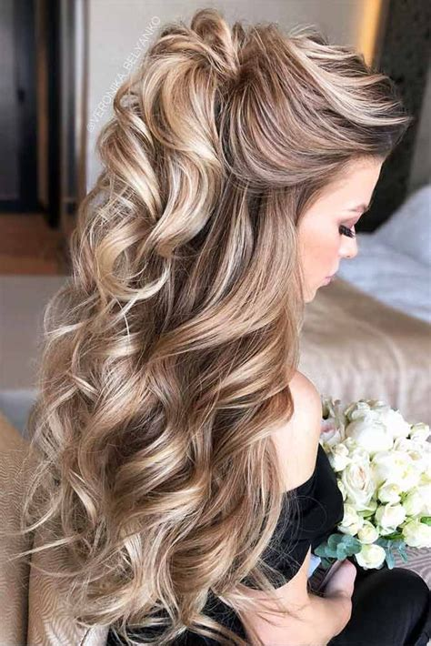 Hairstyles Up by Try 42 Half Up Half Prom Hairstyles Hair Curly