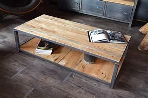 Modele De Table Basse A Faire Soi Meme : fabriquer table basse style industriel le bois chez vous ~ Melissatoandfro.com Idées de Décoration