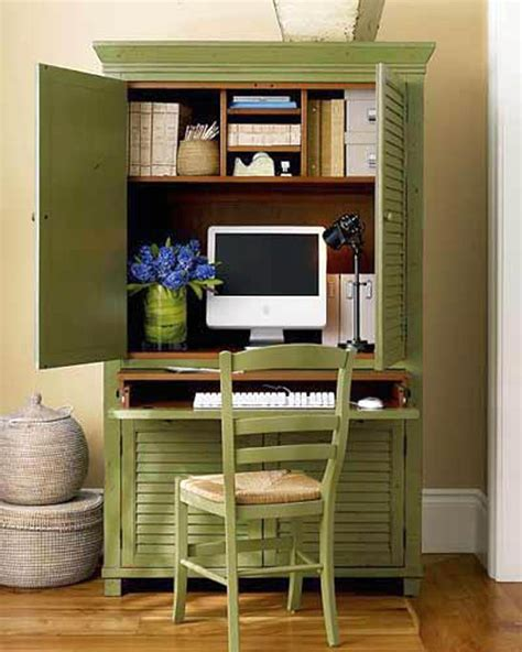 armoire de bureau design green cupboard home office design ideas for small spaces