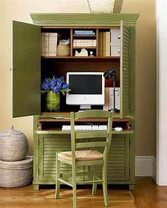 Green cupboard home office design ideas for small spaces for Home office design for small spaces