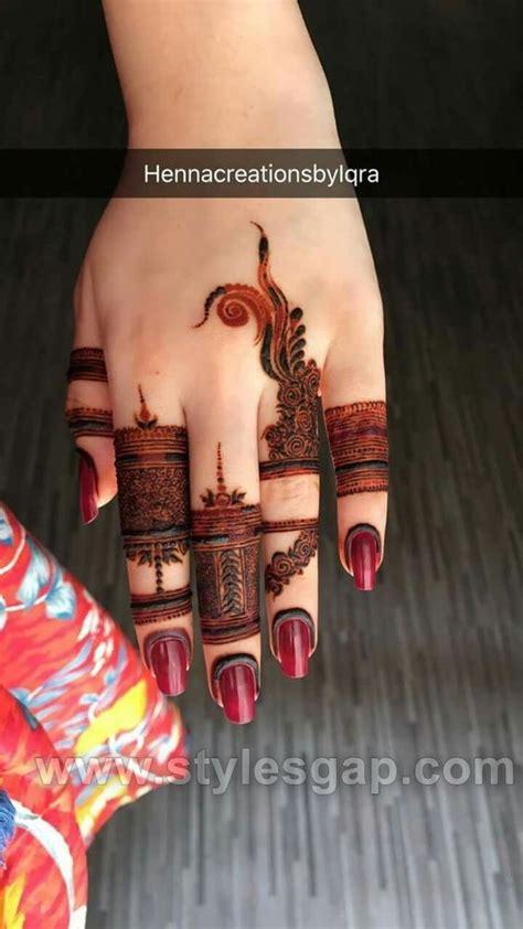 beautiful easy finger mehndi designs   styles