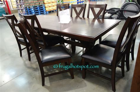 costco dining table in store costco sale bayside furnishings 9 pc dining set 699 99