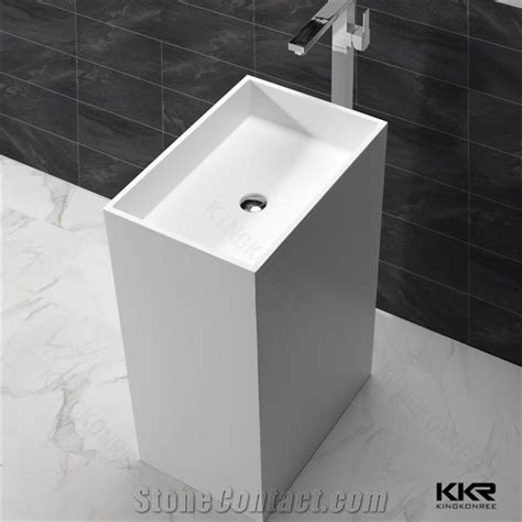 Modern Bathroom Freestanding Sinks by Modern Bathroom Sinks White Pedestal Basin