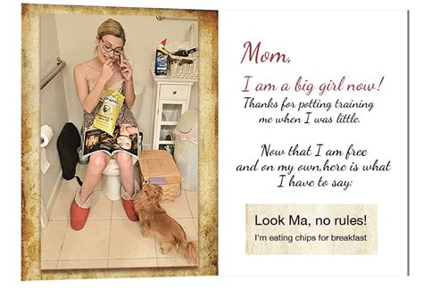 mom at the toilet mother s day gift ideas mother s day mean greeting cards
