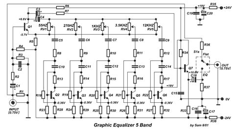 Simple Band Graphic Equalizer Circuit Diagram
