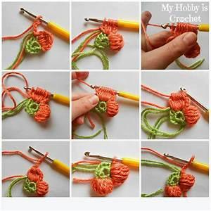 My Hobby Is Crochet  5 Petals Cluster Flower
