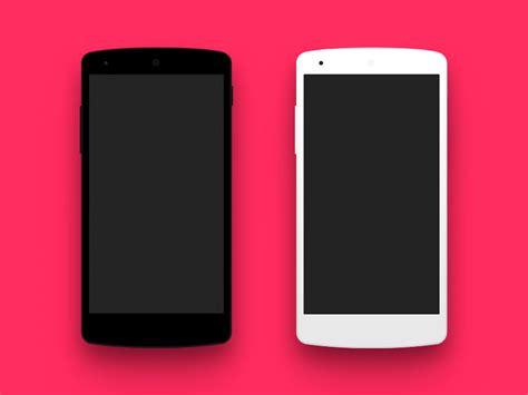 free android phone flat android nexus phone mockup freebie