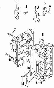 Johnson Cylinder  U0026 Crankcase Parts For 2002 60hp J60pl4snf