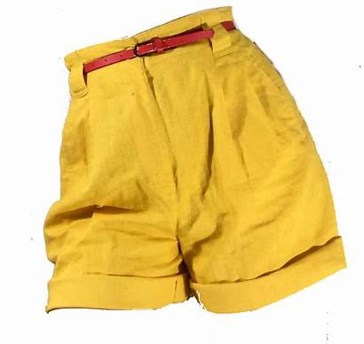 Yellow Shorts Aesthetic Polyvore Clothes Outfit Pants