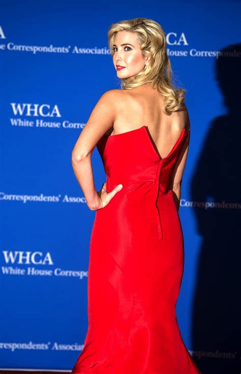 Ivanka Trump Shows Huge Cleavage Wearing A Strapless Red Dress At The St White House
