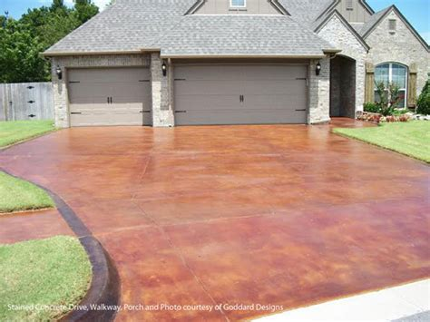 stained driveway ideas podcast 19 tips for staining a concrete floor