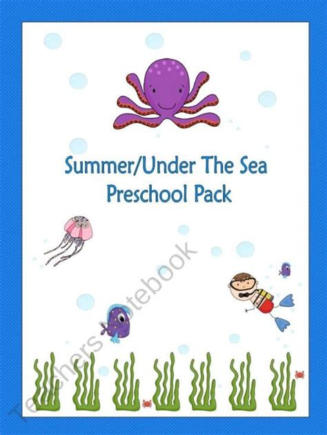 summer the sea preschool pack product from bilingual 776 | 468ac663e443263a9f6e21f849f18ec3