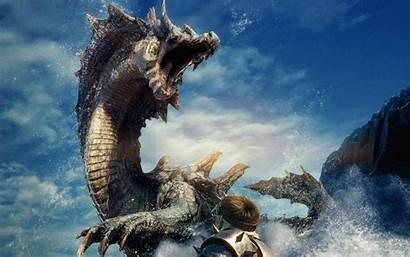 Dragon Fantasy Monster Wallpapers Hunter Background Blowing