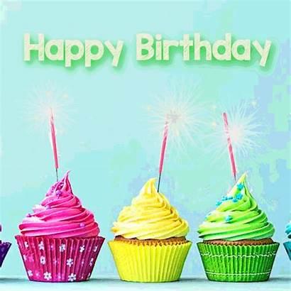 Birthday Happy Cupcakes Sparkler Cupcake Sweet Wishes
