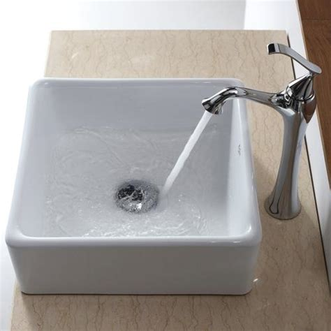 Square Bathroom Sinks Menards by Kraus White Square Ceramic Bathroom Sink At Menards 174