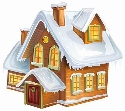 Clipart Winter Clip Transparent Gingerbread Tubes Cabin