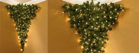 upside  corner pre lit christmas tree  green head