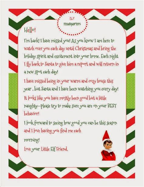 elf shelf return letter google search fun elf