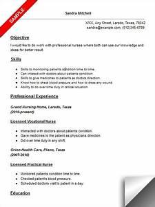 licensed vocational nurse lvn resume sample resume With lvn nursing resume template