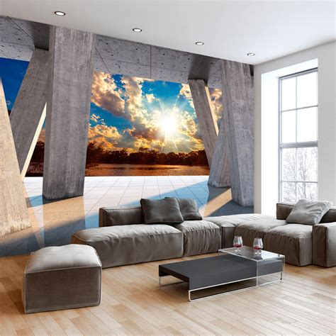 Vlies Fototapete 3d vlies fototapete 3d effekt himmel ausblick 3 farben