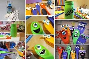 Bricolage Bois Facile : bricoler des monstres halloween bricoler idee bricolage enfant et bricolage ~ Melissatoandfro.com Idées de Décoration