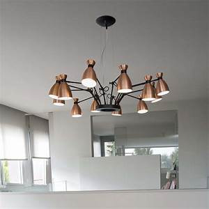 Lustre En Cuivre : lustre 12 branches retro cuivre 100cm faro luminaires nedgis ~ Teatrodelosmanantiales.com Idées de Décoration