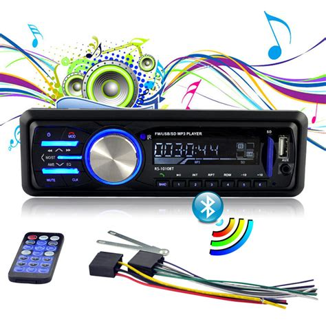Usb Car Stereo by 12v Fm Bluetooth Car Radio Auto Audio Stereo Aux Usb Sd